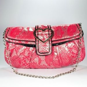 Betsey Johnson Pink Snakeskin Purse